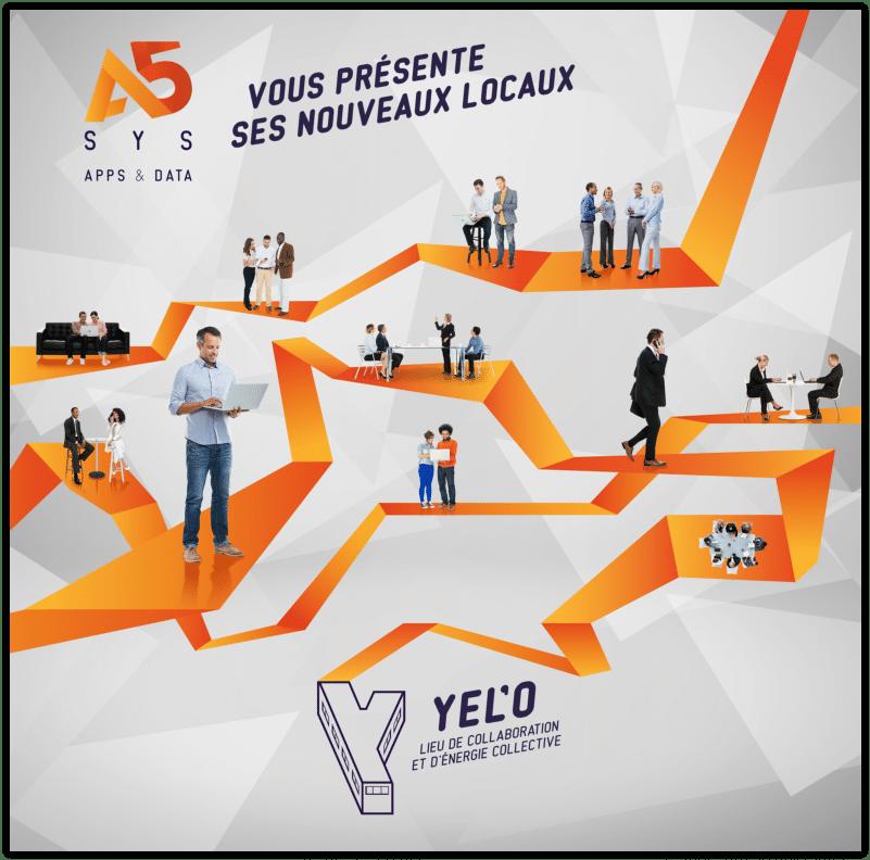 A5sys, la SSII Nantaise, vous présente Yel'o son nouveau siege social dans lequel elle déménagera le 16 Décembre !