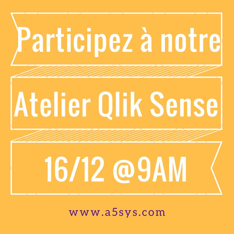 Atelier Qlik Sense à Nantes le 16 Décembre par A5SYS : experts en datavisualisation !